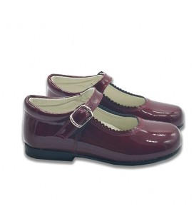 Mary Jane patent leather 4199 burgendy