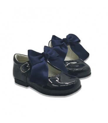 4199 Mary Jane navy with bow