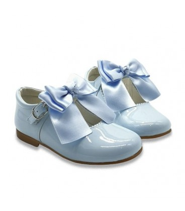 4199 Mary Jane baby blue double bow