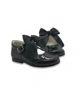 Mary Jane patent leather 4199 black with Julieta bow
