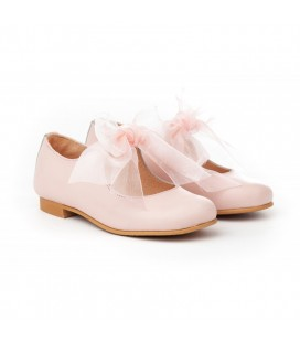 Girls shoes Ballerina with Tul bow 1392 beig