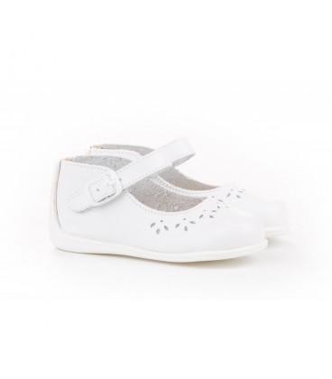 Leather Mary Jane Angelitos 101 white