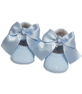 Pram shoes sky-blue 712