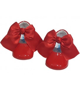 Pram shoes red 712