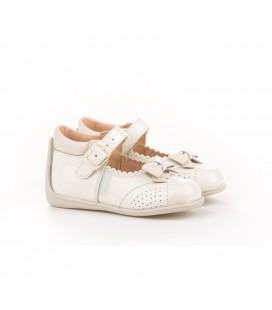 Leather Mary Jane Angelitos with velcro 615 beig