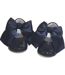 Pram shoes navy 712